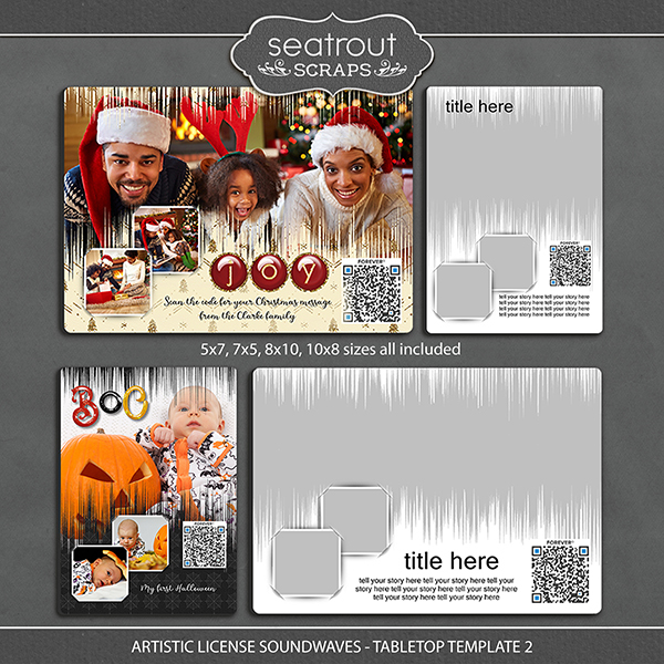 Artistic License Soundwaves -Tabletop Template 2 Digital Art - Digital Scrapbooking Kits