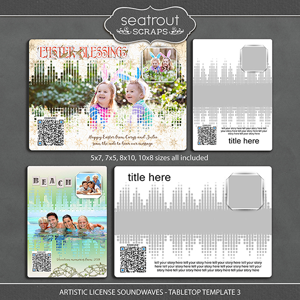 Artistic License Soundwaves -Tabletop Template 3 Digital Art - Digital Scrapbooking Kits