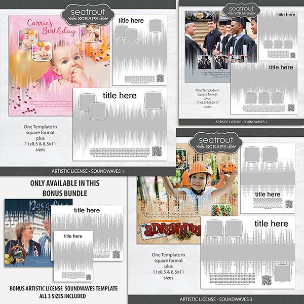 Artistic License - Soundwaves Bonus Bundle Digital Art - Digital Scrapbooking Kits