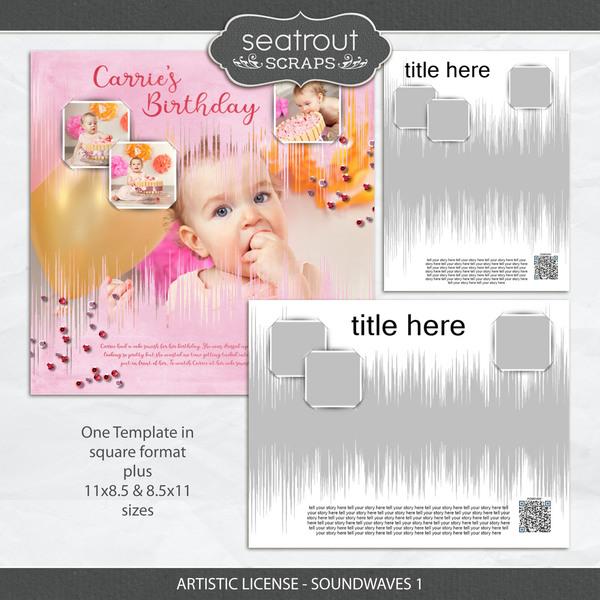 Artistic License - Soundwaves 1 Digital Art - Digital Scrapbooking Kits