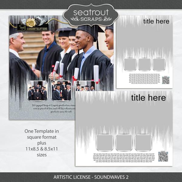 Artistic License - Soundwaves 2 Digital Art - Digital Scrapbooking Kits