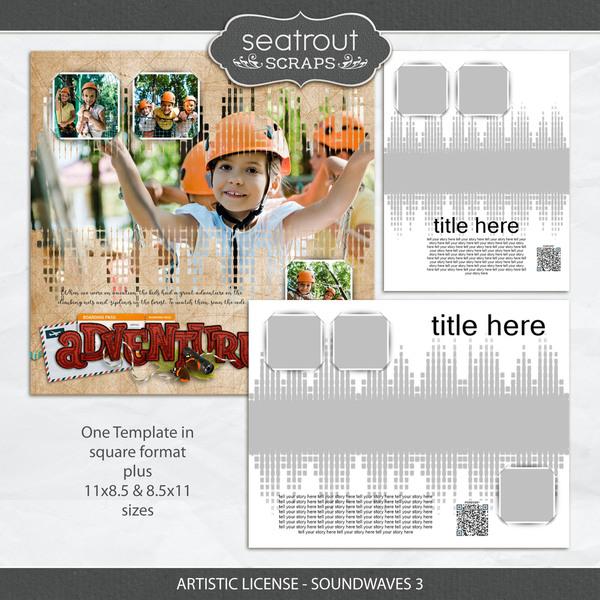 Artistic License - Soundwaves 3 Digital Art - Digital Scrapbooking Kits