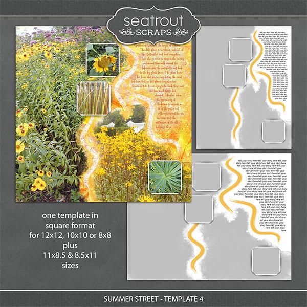 Summer Street - Template 4 Digital Art - Digital Scrapbooking Kits