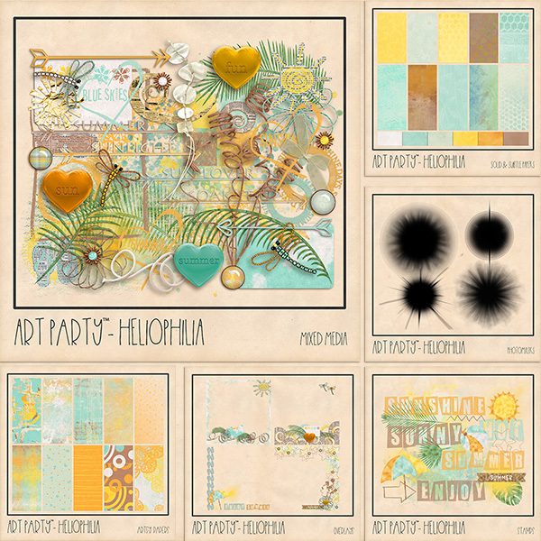 Heliophilia Complete Collection Digital Art - Digital Scrapbooking Kits
