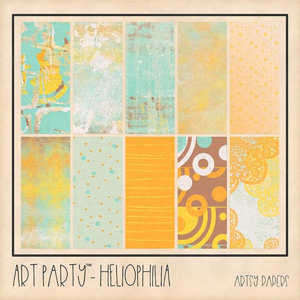 Heliophilia Artsy Papers Digital Art - Digital Scrapbooking Kits