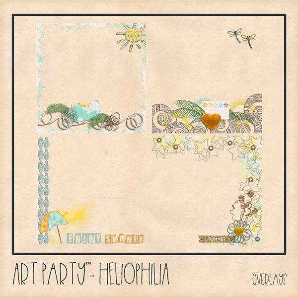 Heliophilia Overlays Digital Art - Digital Scrapbooking Kits