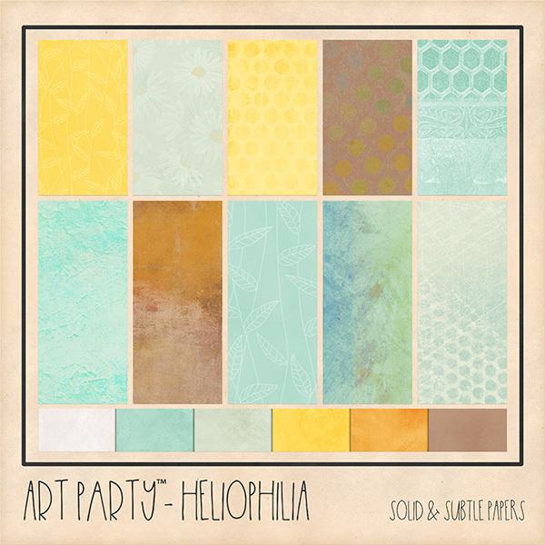 Heliophilia Solid & Subtle Papers Digital Art - Digital Scrapbooking Kits