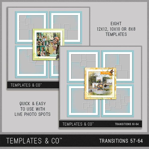 Transitions 57-64 Digital Art - Digital Scrapbooking Kits