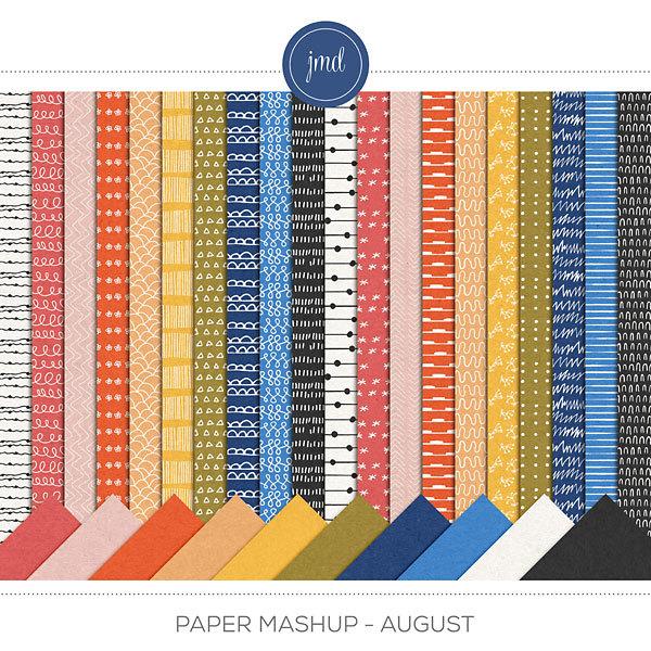 Paper Mashup - August Digital Art - Digital Scrapbooking Kits