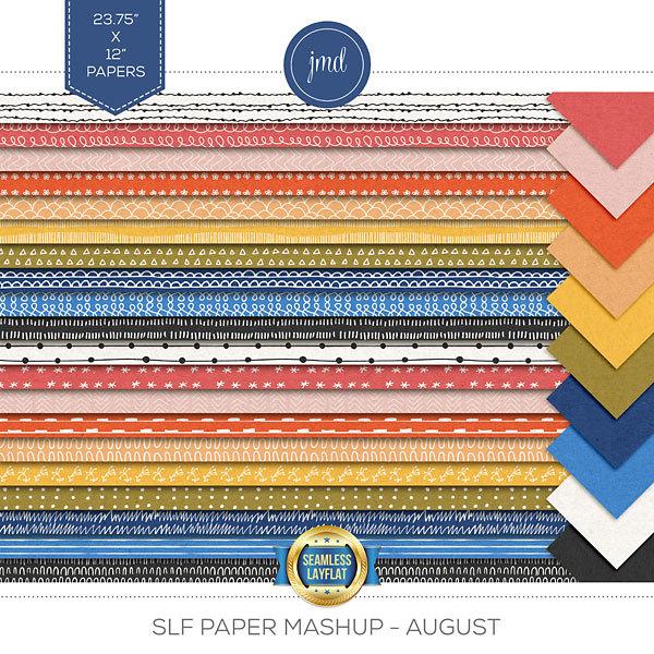 SLF Paper Mashup - August Digital Art - Digital Scrapbooking Kits