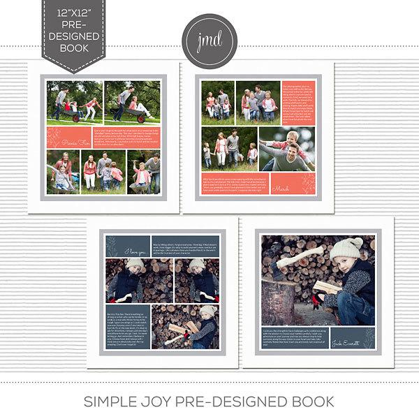 Simple Joy Pre-Designed Book