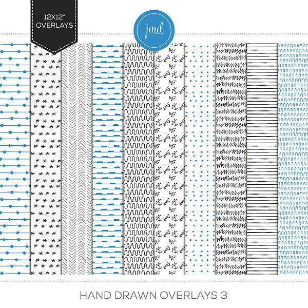 Hand Drawn Overlays 3 Digital Art - Digital Scrapbooking Kits