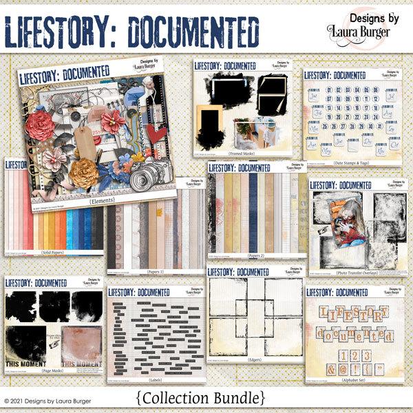 Life Story - Documented Digital Art - Digital Scrapbooking Kits