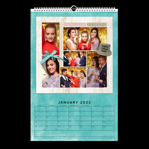 Scrapbook Grid Calendar Calendar