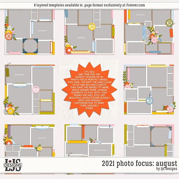 2021 Photo Focus - August Digital Art - Digital Scrapbooking Kits