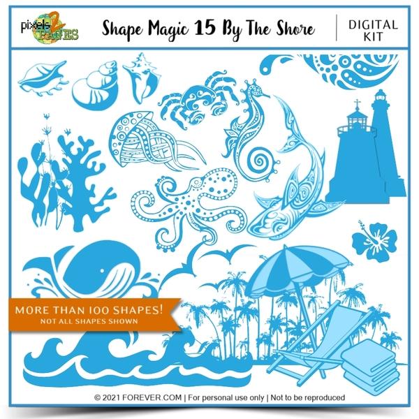 Shape Magic 15 - By The Shore Digital Art - Digital Scrapbooking Kits