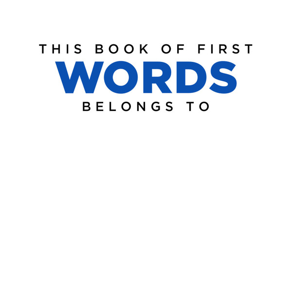 My Book of First Words