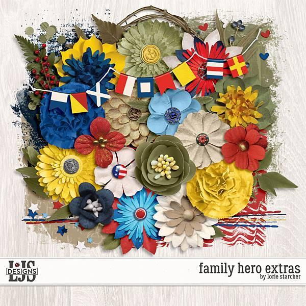 Family Hero Extras Digital Art - Digital Scrapbooking Kits