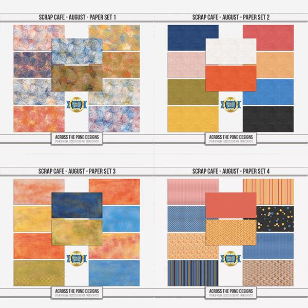 Scrap Cafe - August 2021 - Bundle Digital Art - Digital Scrapbooking Kits