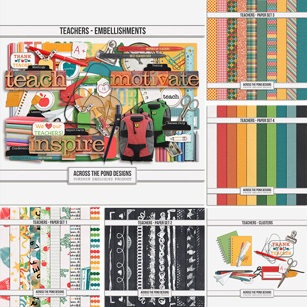 Teachers - Collection Digital Art - Digital Scrapbooking Kits
