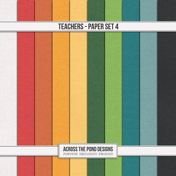 Teachers - Paper Set 4 Digital Art - Digital Scrapbooking Kits