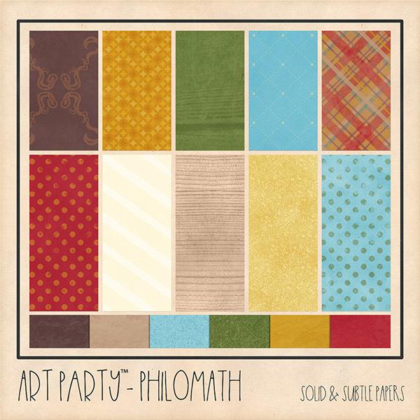 Philomath Solid & Subtle Papers Digital Art - Digital Scrapbooking Kits