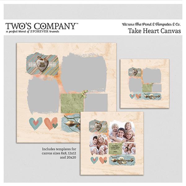 Take Heart Canvas Digital Art - Digital Scrapbooking Kits