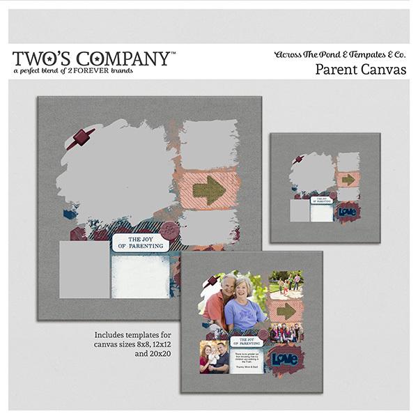 Parent Canvas Digital Art - Digital Scrapbooking Kits