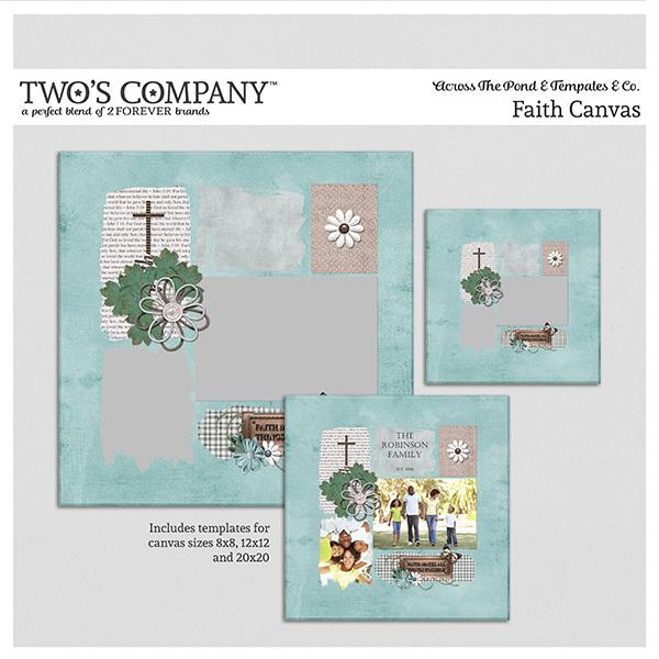 Faith Canvas Digital Art - Digital Scrapbooking Kits