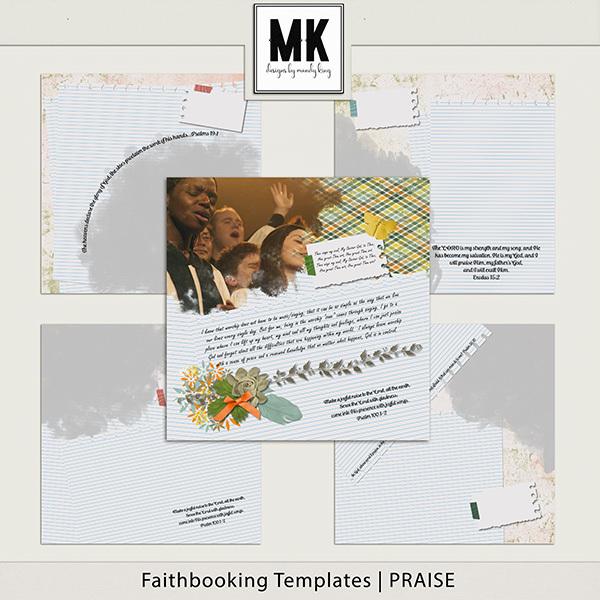 Faithbooking Templates - PRAISE Digital Art - Digital Scrapbooking Kits