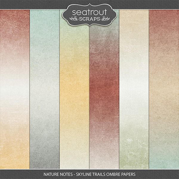Nature Notes - Skyline Trails Ombre Papers