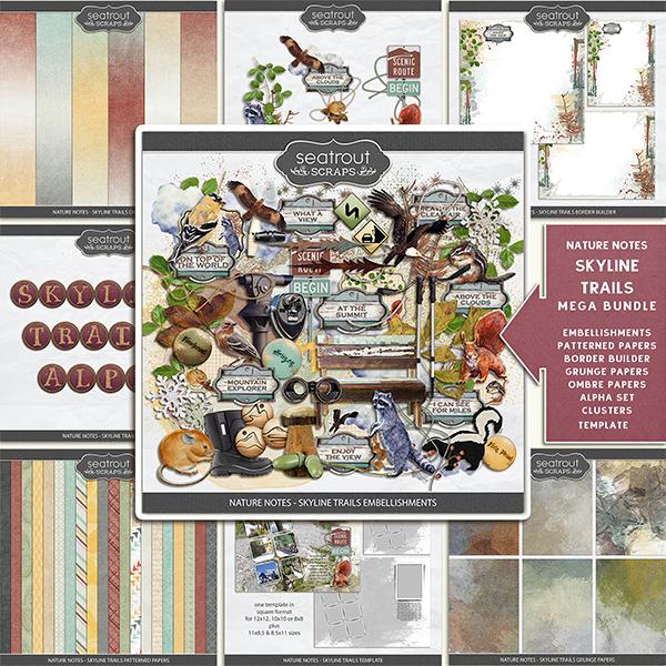 Nature Notes - Skyline Trails Mega Bundle Digital Art - Digital Scrapbooking Kits
