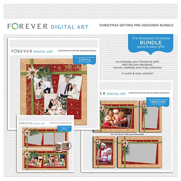 Christmas Gifting Pre-designed Bundle Digital Art - Digital Scrapbooking Kits