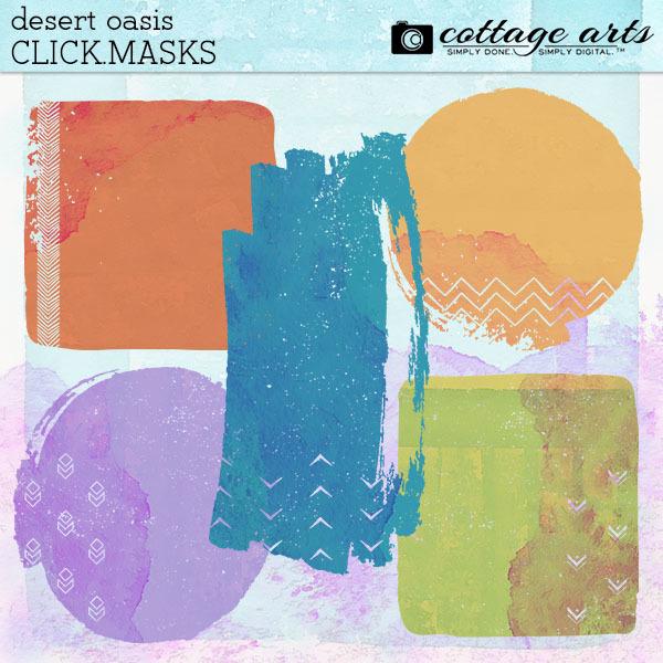 Desert Oasis Click.Masks Digital Art - Digital Scrapbooking Kits