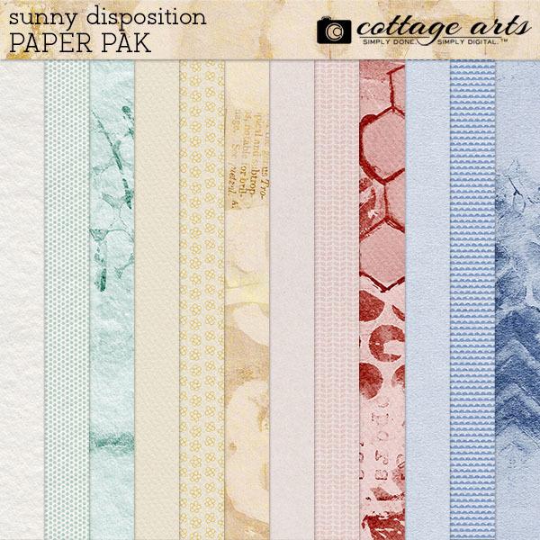 Sunny Disposition Paper Pak Digital Art - Digital Scrapbooking Kits
