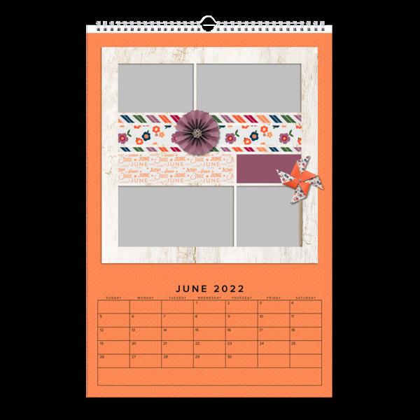 Scrapbook Grid Calendar