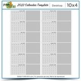 2022 Desktop Calendar Template