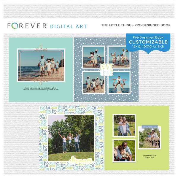 The Little Things Pre-Designed Book Digital Art - Digital Scrapbooking Kits