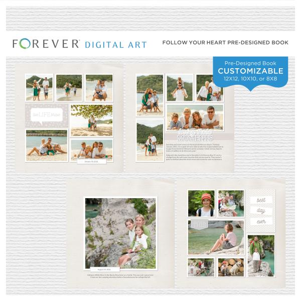 Loving These Moments Pre-Designed Book Digital Art - Digital Scrapbooking Kits