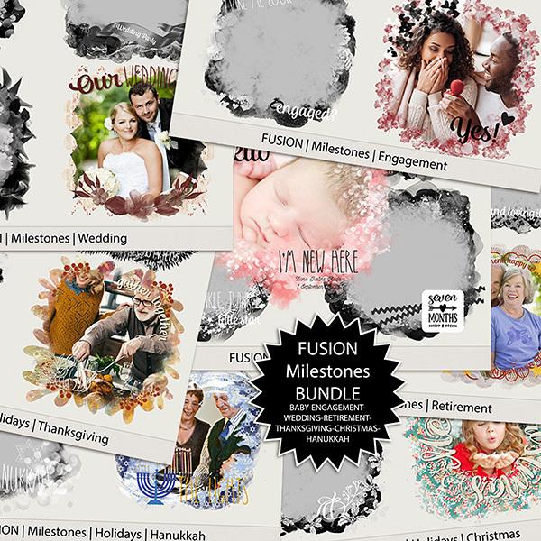 Fusion Milestones - BUNDLE Digital Art - Digital Scrapbooking Kits