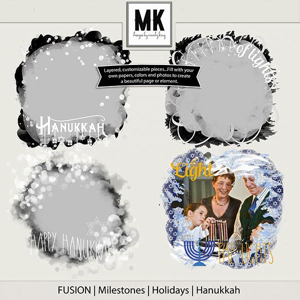 Fusion - Milestones - Holidays -  Hanukkah Digital Art - Digital Scrapbooking Kits