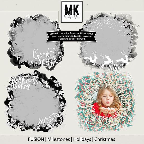 Fusion - Milestones - Holidays - Christmas Digital Art - Digital Scrapbooking Kits