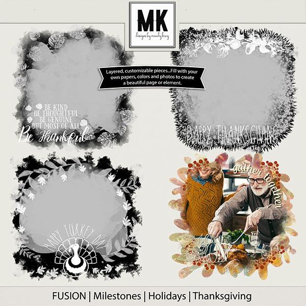 Fusion - Milestones - Holidays - Thanksgiving Digital Art - Digital Scrapbooking Kits