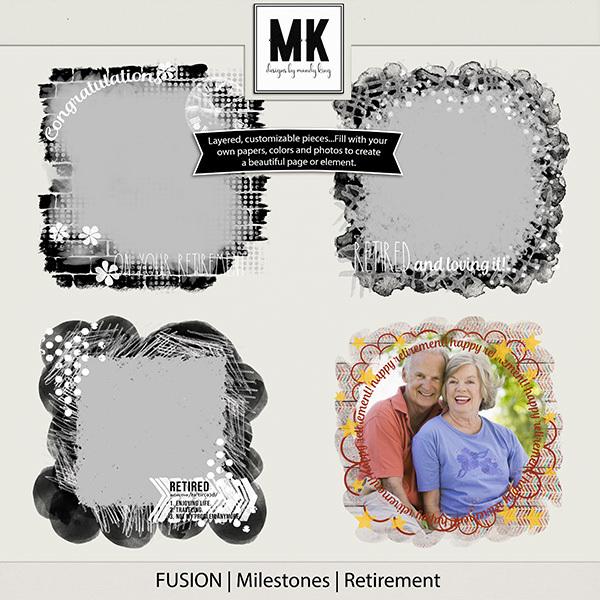 Fusion Milestones - Retirement Digital Art - Digital Scrapbooking Kits