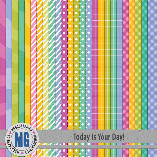 Today Is Your Day Extra Papers Digital Art - Digital Scrapbooking Kits
