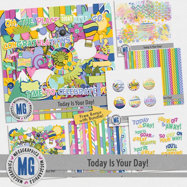 Today Is Your Day Bundle Digital Art - Digital Scrapbooking Kits