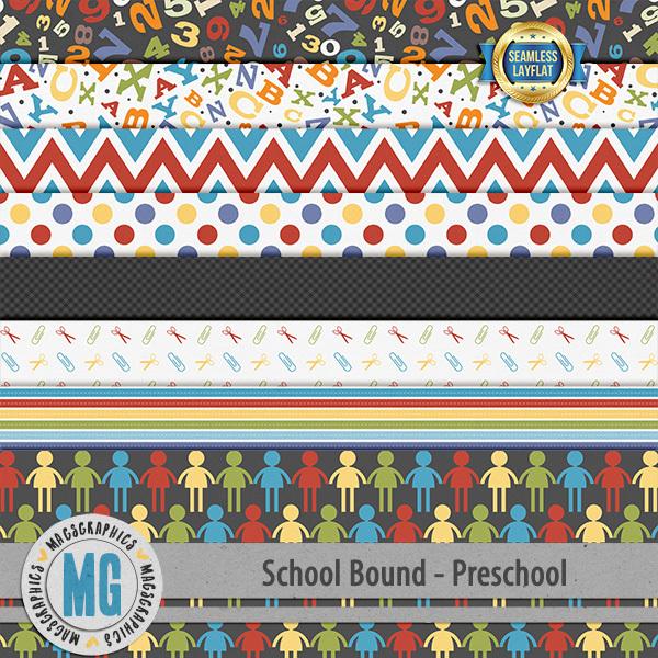 Preschool Bound SLF Papers Digital Art - Digital Scrapbooking Kits