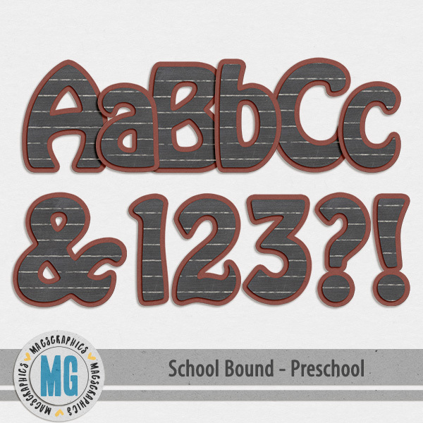 Preschool Bound Alpha Digital Art - Digital Scrapbooking Kits