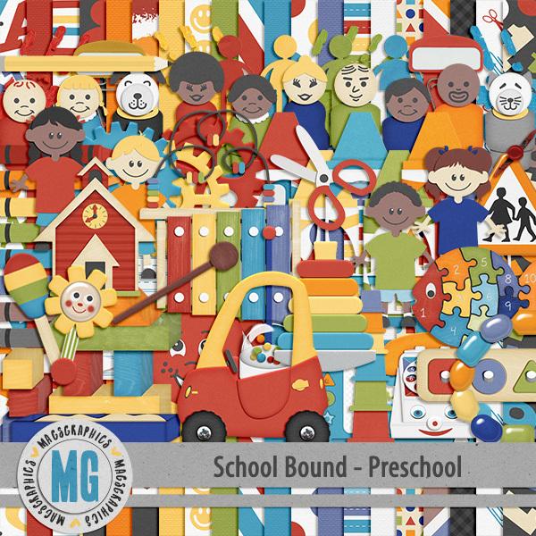 Preschool Bound Kit Digital Art - Digital Scrapbooking Kits