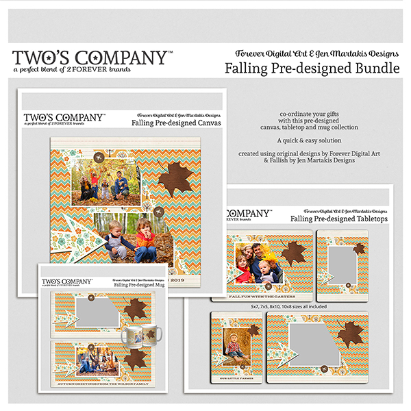 Falling Pre-designed Bundle Digital Art - Digital Scrapbooking Kits